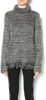 Cecico Turtleneck Fringe Sweater
