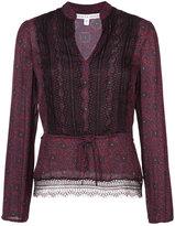 Veronica Beard Lindberg Lace Trim blouse