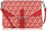 Lancaster Paris Ikon Coated Canvas and Leather Mini Clutch