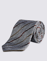 Autograph Pure Silk Highlight Striped Tie