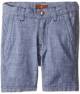 7 For All Mankind Kids - Chambray Shorts Boy's Shorts