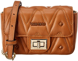 Mario Valentino Valentino By Papillon D Sauvage Studs Leather Shoulder Bag