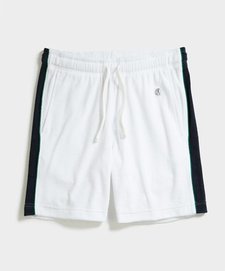 Todd Snyder + Champion Champion Terry Side Stripe Short in White