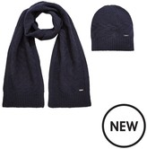 HUGO BOSS Knitted Hat & Scarf Gift Set