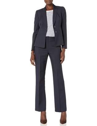 Le Suit Lesuit LeSuit Women's 2 Button Notch Collar Glazed Melange Pant Suit