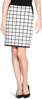 White House Black Market Windowpane Pencil Skirt