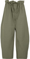 Stella McCartney Twill Wide-leg Pants - Army green