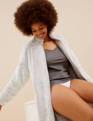 Marks and Spencer Fleece Zip Through Dressing Gown