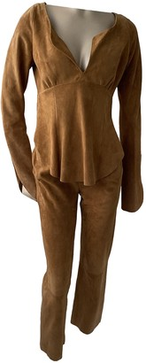 Jitrois Camel Suede Trousers for Women