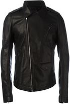 Rick Owens fitted leather jacket