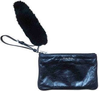 Miu Miu Bow bag Black Leather Clutch bags