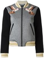 RED Valentino three-quarters sleeve bomber jacket - women - Silk/Cotton/Polyamide/Viscose - L