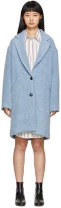 Etoile Isabel Marant Blue Boucle Dante Coat