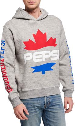 DSQUARED2 Men's x Pepsi Maple Leaf Graphic Hoodie
