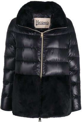 Herno Faux-Fur Detail Down-Feather Jacket