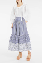 Erdem Leigh Striped Maxi Skirt
