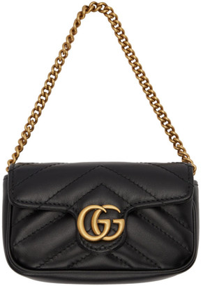 Gucci Black GG Marmont Coin Case Bag
