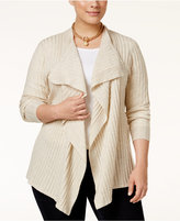 INC International Concepts Plus Size Draped Cardigan, Only at Macy's