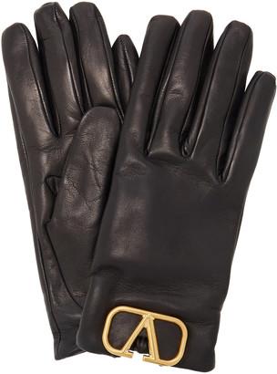 Valentino Garavani VLogo Leather Gloves