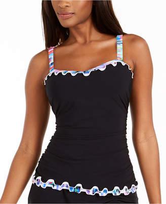 Gottex Tricolore Ruffled Underwire Tankini Top, Women Swimsuit