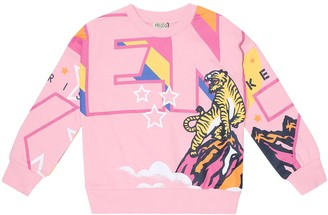 Kenzo Kids Printed cotton-blend sweatshirt