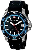 Wenger Women's 0621.102 Sea Force 3 H Analog Display Swiss Quartz Black Watch