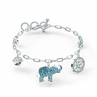 Swarovski Symbolic Bracelet with 3 Dangling Elements Light Multi-Coloured Crystals and Rhodium Plated Metal from Swarovski's Symbolic Collection