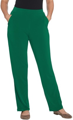 Factory Quacker Pull-On Straight Leg Knit Pants with Pockets