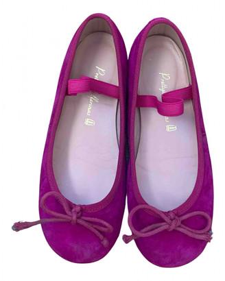 Pretty Ballerinas Purple Suede Ballet flats