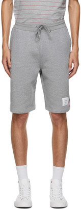 Thom Browne Grey Loopback RWB Sweat Shorts