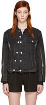3.1 Phillip Lim Black Denim Zip Jacket