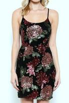 Solemio Floral Sequins Dress