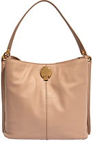 Karen Millen Slouchy Leather Shoulder Bag, Netural