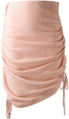Laneus knitted draped skirt