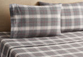 Belle Epoque Plaid Flannel Sheet Set, Red