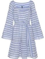 Lisa Marie Fernandez Striped Cotton Seersucker Dress