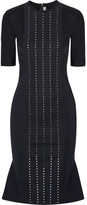 Dion Lee Aperture Swarovski Crystal-embellished Tech-jersey Dress - Midnight blue