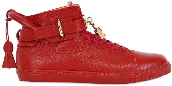 Buscemi Classic Leather High Top Sneakers