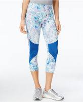Jessica Simpson The Warm Up Juniors' Printed Cropped Leggings, Only at Macy's