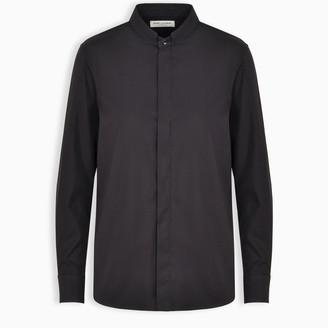 Saint Laurent Black korean collar shirt