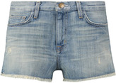 Current/Elliott The Boyfriend frayed stretch-denim shorts