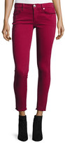 True Religion Casey Frayed Low-Rise Super-Skinny Jeans, Merlot