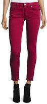 True Religion Casey Frayed Low-Rise Super-Skinny Jeans, Merlot