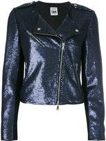 Twin-Set sequinned biker jacket