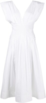 Philosophy di Lorenzo Serafini Sleeveless Flared Midi Dress