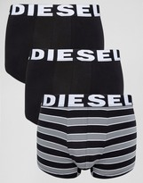 Diesel Stripe Trunks In 3 Pack Multi