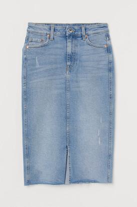 H&M Denim Pencil Skirt