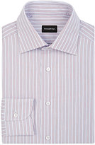 Ermenegildo Zegna Men's Pinstriped Rossini Shirt-RED