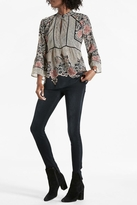 Lucky Brand Mixed Pattern Blouse
