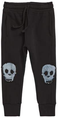 Nununu Water Skull Patch Baggy Pants